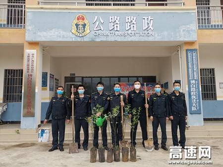 广西高速公路发展中心玉林分中心:博白大队添抹新绿 深播未来希望