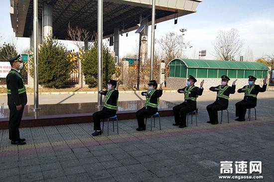 河北京石高速机场东站春季练兵正当时