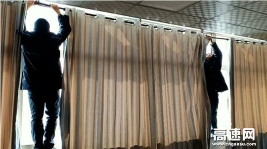 清洗窗帘保洁净,美化站区迎节庆
