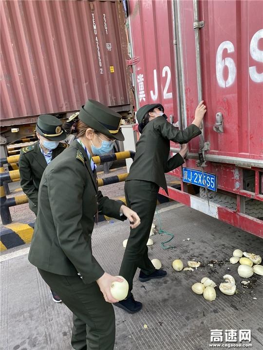 河北沧廊(京沪)高速姚官屯收费站绿通验货货掉落志愿者帮忙获感谢