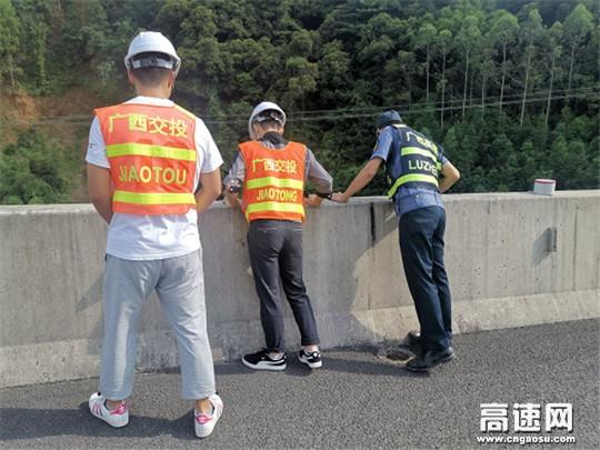 广西高速公路发展中心玉林分中心平南大队加强汛期路域隐患排查