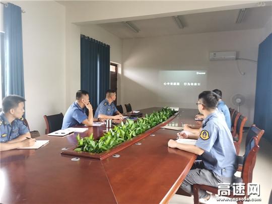 广西高速玉林分中心博白大队党支部观看廉政视频