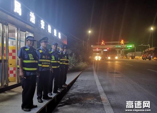 广西高速公路玉林分中心藤县大队持续联合开展高速公路治超专项行动