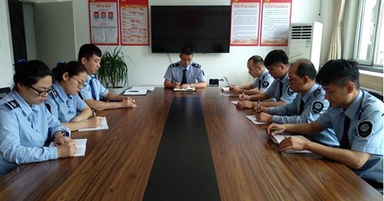 山西临汾北土门收费站召开进一步强化疫情防控措施专题会议