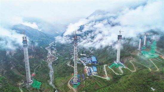 196米超高墩 9级抗震设计 桥跨深谷金阳连