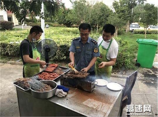 湖北汉十支队第二大队联合随州管理所举办集体员工生日会