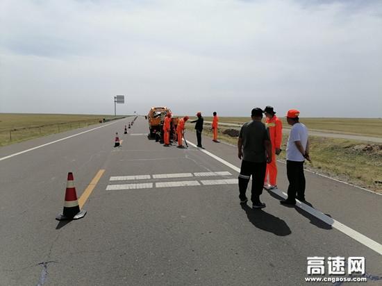 内蒙古阿拉坦额莫勒公路养护所加强作业区安全管理