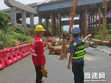 广西高速公路玉林分中心桂平一大队开展涉路施工日常安全检查