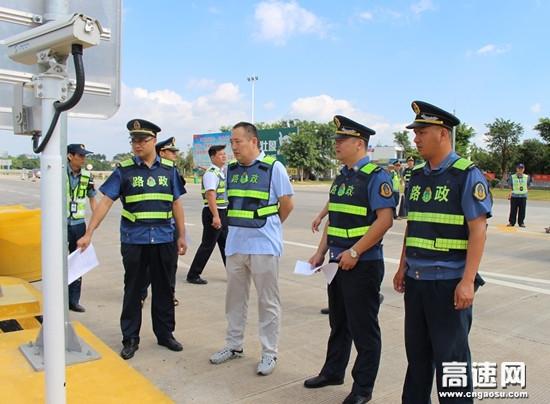 广西高速公路柳州分中心象州路政一大队加强辖区收费站入口管控提高通行效率