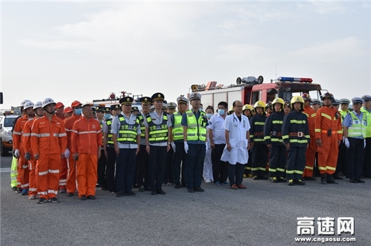 甘肃省金昌辖区高速公路开展应急救援综合演练