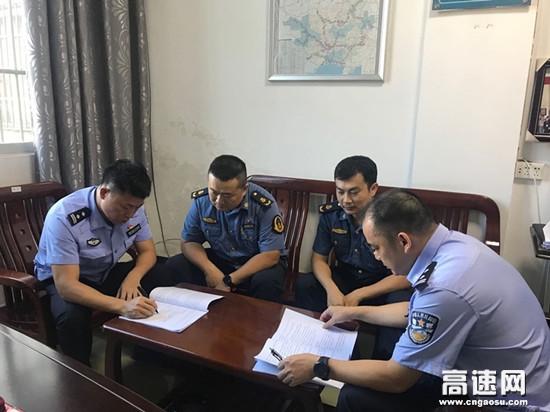 广西公安厅管理支队十三大队与横县路政大队共商辖区施工路段交通安全管理事宜