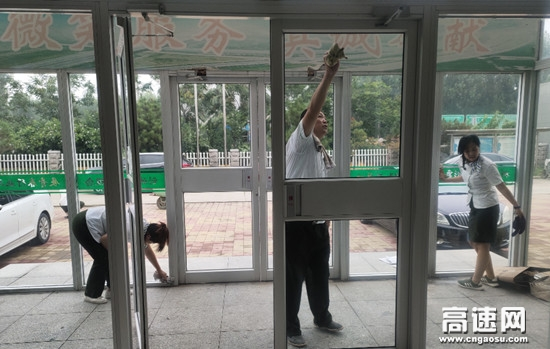 河北沧廊(京沪)木门店站开展环境卫生大整治活动