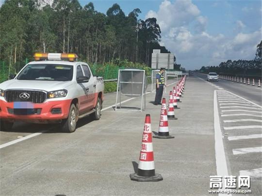 广西高速公路玉林分中心合浦大队开展涉路施工安全监督检查