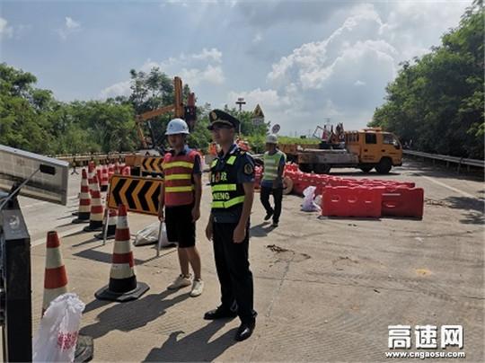 广西高速公路发展中心玉林分中心桂平一大队认真履行职责对辖区施工作业现场进行安全检查