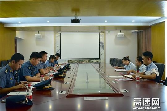 广西高速公路发展中心南宁分中心武鸣路政执法大队、二大队联合开展大件运输许可服务大走访活动