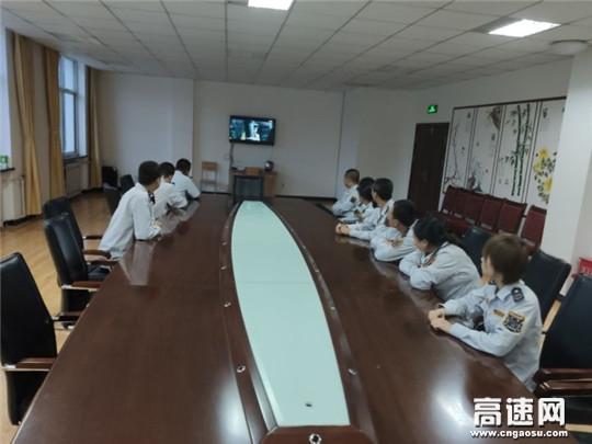 甘肃高速庆城所老城收费站开展纪念中国人民抗日战争暨世界反法西斯战争胜利75周年活动