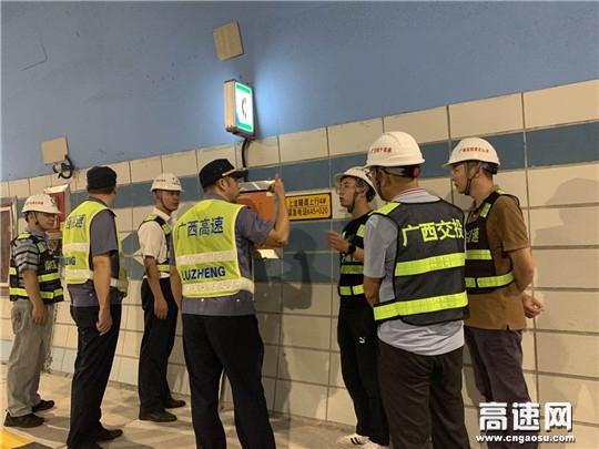 广西高速公路发展中心南宁分中心崇左、龙州路政执法大队联合辖区运营有限公司开展安全隐患排查