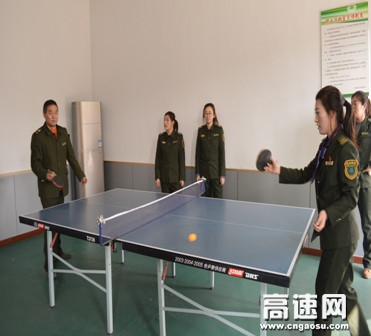 河北沧廊(京沪)姚官屯收费站开展乒乓球比赛