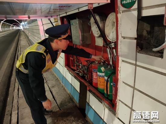 广西高速公路百色分中心平果路政执法二大队开展消防安全专项检查行动