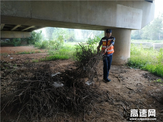 """湖北高速汉十路政提升公路""""颜值""""路域环境整治再发力"""