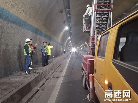 广西玉林高速公路藤县大队联合开展辖区隧道施工队安全检查