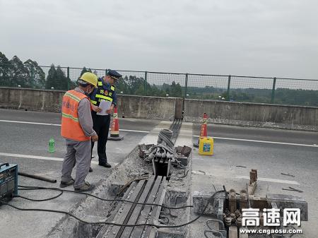广西玉林高速公路桂平一大队施工稳抓安全,生产避免事故