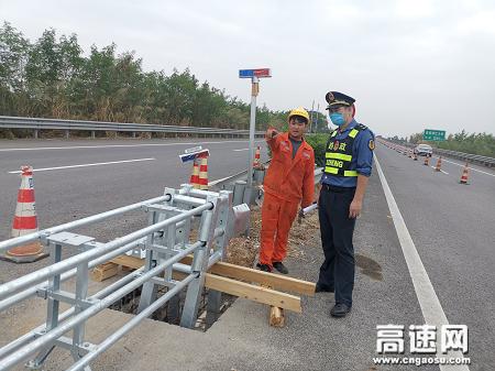 广西玉林高速公路桂平一大队加强涉路施工监管落实主体责任