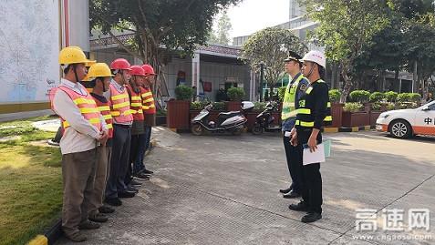 """广西南宁高速公路""""路企""""联合对施工单位进行安全培训"""