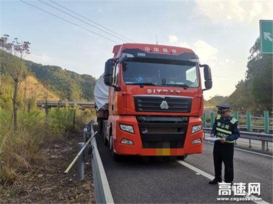 广西高速公路发展中心玉林分中心平南路政大队对超限运输车辆检查复核信息