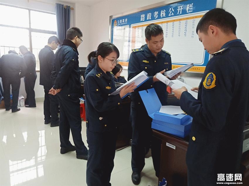 广西玉林高速公路陆川一大队与兄弟大队交流学习强工作、取长补短共提升