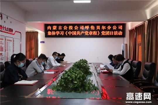 内蒙古公投公司呼伦贝尔分公司党支部开展学习《中国共产党章程》主题党团日活动