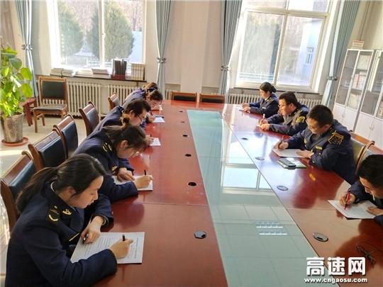 甘肃泾川泾川西收费站开展1-2月份业务知识考试