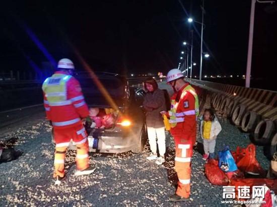 甘肃武威清障救援大队紧急处置一起失控车辆