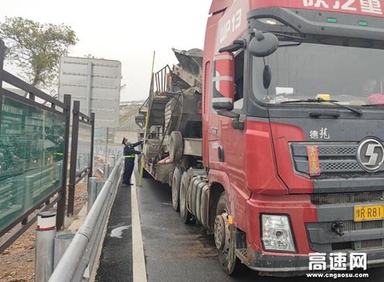 广西玉林高速公路蒙山路政执法大队加强大件运输事中监管核查服务工作