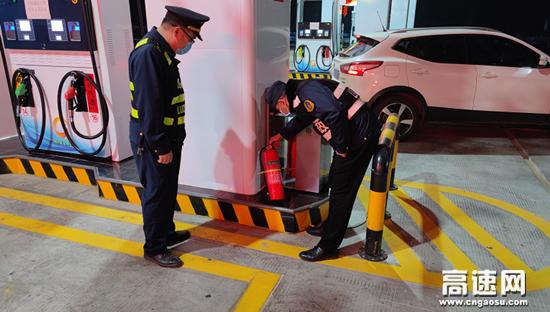 广西玉林高速公路蒙山路政执法大队加强服务区消防安全监管力度