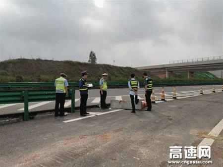 """广西玉林高速公路路警企联合开展""""清明和三月三""""节前安全隐患排查工作 拧紧""""安全阀"""""""