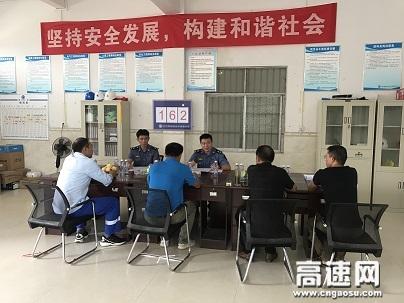 广西南宁高速公路良庆路政执法一、二大队到辖区大件运输企业开展许可服务走访工作