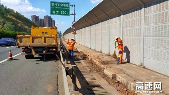 湖南长沙长潭养护路产安全管理所全力以赴完成 靓化工程示范路
