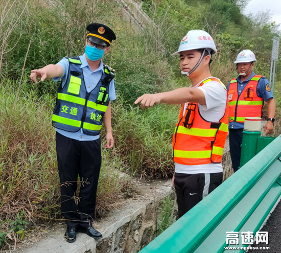 广西高速公路百色分中心乐业路政执法大队国庆节前安全隐患排查