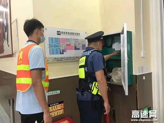 广西南宁高速公路 良庆一、二大队开展服务区服务设施专项监督检查工作
