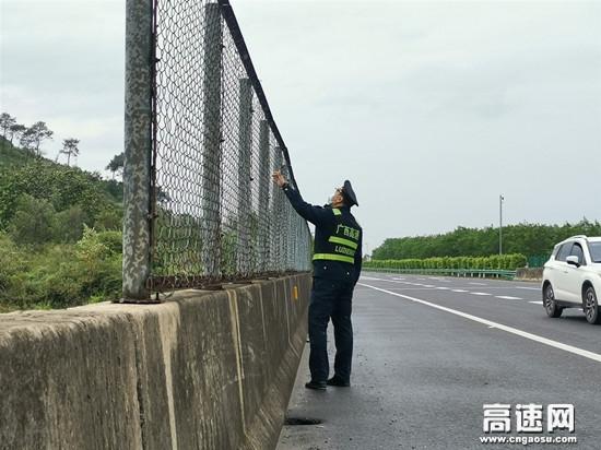 广西玉林高速公路博白大队多项措施,积极应对台风天气