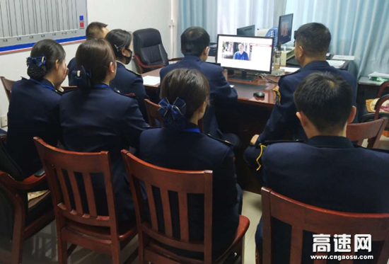 甘肃泾川所白水收费站组织观看廉政警示教育片